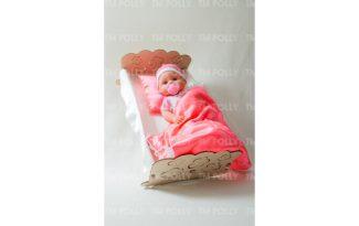 Конструктор «Кроватка для пупсов со спальным набором»