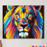 Картина по номерам на холсте 50х40 см. «Радужный лев» 0 Preview