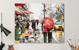 Картина по номерам на холсте 50х40 см. «Нью-Йорк»