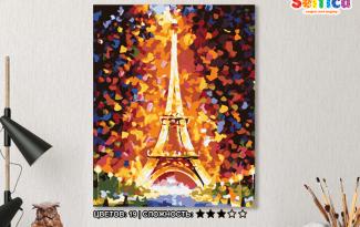 Картина по номерам на холсте 50х40 см. «Эйфелева башня»