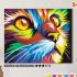 Картина по номерам на холсте 50х40 см. «Радужный кот» 0 Preview