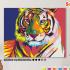 Картина по номерам на холсте 50х40 см. «Радужный тигр» 0 Preview