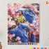 Картина по номерам на холсте 50х40 см. «Синие Попугаи» 0 Preview