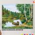 Картина по номерам на холсте 50х40 см. «Тихая речка» 0 Preview