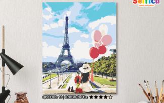 Картина по номерам на холсте 50х40 см. «Девушка в Париже»