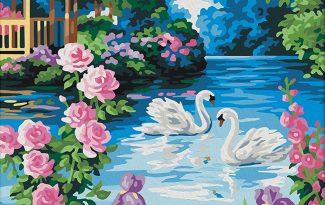 Картина по номерам на холсте 50х40 см. «Садовый рай»