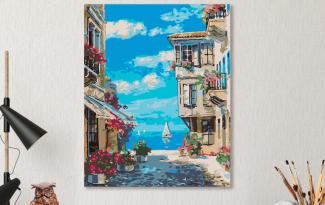 Картина по номерам на холсте 50х40 см. «На озере Комо»