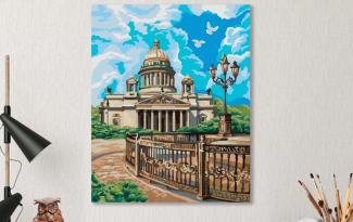 Картина по номерам на холсте 50х40 см. «Исаакиевский собор»