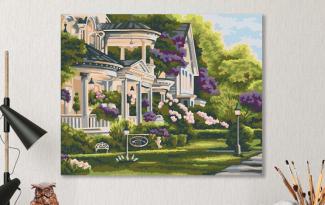 Картина по номерам на холсте 50х40 см. «Усадьба»