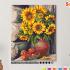 Картина по номерам на холсте 50х40 см. «Букет подсолнухов» 0 Preview