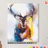 Картина по номерам на холсте 50х40 см. «Цветной олень» 0 Preview