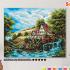 Картина по номерам на холсте 50х40 см. «Домик у водопада» 0 Preview