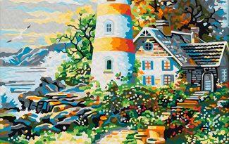 Картина по номерам на холсте 50х40 см. «Старый маяк»