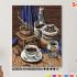 Картина по номерам на холсте 50х40 см. «кофейный набор» 0 Preview