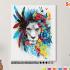 Картина по номерам на холсте 50х40 см. «Лев в цветах» 0 Preview