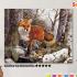 Картина по номерам на холсте 50х40 см. «Лиса в лесу» 0 Preview