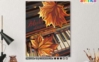 Картина по номерам на холсте 50х40 см. «Осенний вальс»