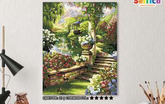 Картина по номерам на холсте 50х40 см. «Сказочный сад»