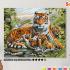 Картина по номерам на холсте 50х40 см. «Тигриная семья» 0 Preview