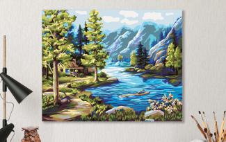 Картина по номерам на холсте 50х40 см. «Северные виды»