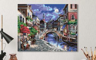 Картина по номерам на холсте 50х40 см. «Ночная Венеция»