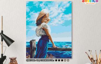Картина по номерам на холсте 50х40 см. «Ассоль»