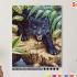 Картина по номерам на холсте 50х40 см.  «Черный леопард» 0 Preview