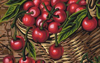 Картина по номерам на холсте 50х40 см. «Спелая вишня»