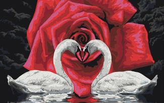 Картина по номерам на холсте 50х40 см. «Символ любви»