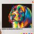 Картина по номерам на холсте 50х40 см. «Радужная собака» 0 Preview