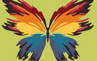 Картина по номерам на холсте с подрамником 20х15 см. «Бабочка»