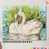 Картина по номерам на холсте с подрамником 50х40 см. «Лебединая пара» 0 Preview
