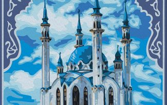 Картина по номерам на холсте с подрамником 50х40 см. «Мечеть Кул-Шариф»