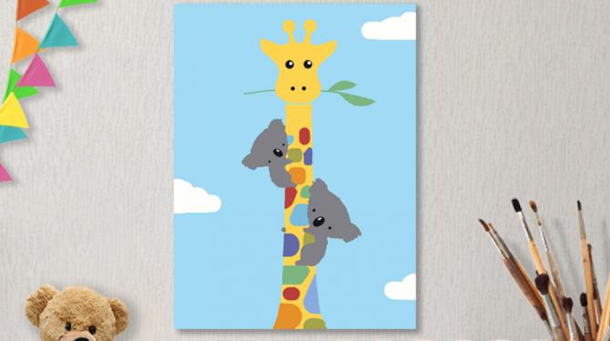 Картины по номерам на холсте 20х15см «Дружба».