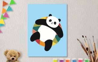 Картины по номерам на холсте 20х15см «Панди».