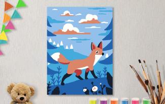 Картины по номерам на холсте 20х15см «Путешествие в горах».