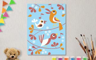 Картины по номерам на холсте 20х15см «Птахи». TM Selfica
