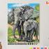 Картина по номерам на холсте 50х40 см. «Слоны» 0 Preview
