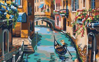 Картина по номерам на холсте 50х40 см. «Венецианский канал»