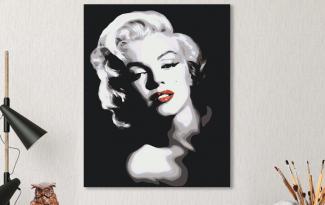 Картина по номерам на холсте 50х40 см. «Мэрилин Монро». TM Selfica