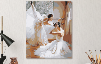 Картина по номерам на холсте 50х40 см. «Балерины». TM Selfica