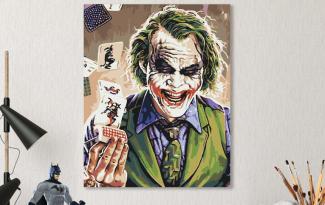 Картина по номерам на холсте 50х40 см. «Джокер». TM Selfica