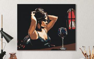 Картина по номерам на холсте 50х40 см. «Наедине с собой». TM Selfica
