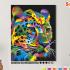 Картина по номерам на холсте 50х40 см. «Радужный леопард». TM Selfica 0 Preview