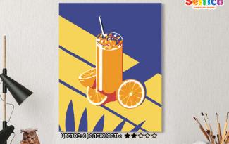 Картина по номерам на холсте 50х40 см. «Апельсиновый сок». TM Selfica
