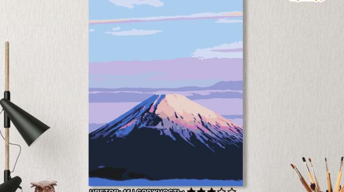 Картина по номерам на холсте 50х40 см. «Фудзияма». TM Selfica 0
