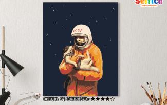 Картина по номерам на холсте 50х40 см. «Гагарин». TM Selfica