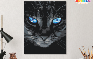 Картина по номерам на холсте 50х40 см. «Голубоглазый». TM Selfica