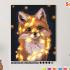 Картина по номерам на холсте 50х40 см. «Лисонька с гирляндой». TM Selfica 0 Preview