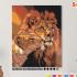 Картина по номерам на холсте 50х40 см. «Львиная нежность». TM Selfica 0 Preview
